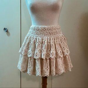 NWT Free People Layered Mini Skirt